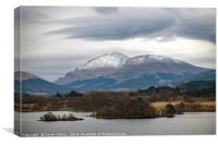 Snow Capped Highlands, Canvas Print