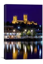 Blue Hour at Lincoln Cathedral, Canvas Print
