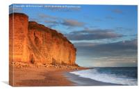 Burton Bradstock Cliffs, Canvas Print