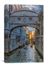 Bridge of Sighs, Canvas Print