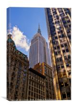 The Streets of New York - Empire State Building, Canvas Print