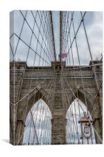 The Brooklyn Bridge, New York, Canvas Print