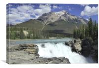 Athabasca Waterfalls, Jasper National Park, Canada, Canvas Print