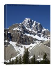 Crowfoot Glacier, Banff National Park , Canada., Canvas Print
