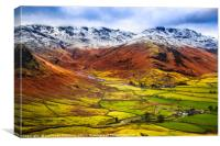 Side pike in the lake district, Canvas Print