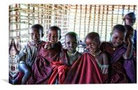 Portrait of Young Maasai Children 4239, Canvas Print