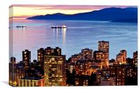 Twilight English Bay Vancouver Pacific North West, Canvas Print