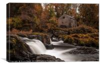 Watermill cottage, Canvas Print