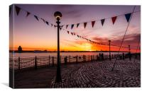 Liverpool Waterfront Sunset, Canvas Print