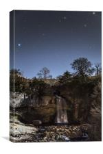 Thornton Force by moonlight, Canvas Print