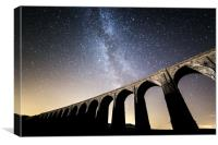 Milky Way over Ribblehead Viaduct, Canvas Print