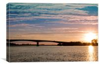 Sunset on the Taw, Canvas Print
