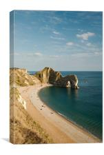 A portrait of Durdle Door, Dorset, Canvas Print