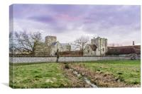 Sunset over the Hospital of St Cross, Winchester, , Canvas Print