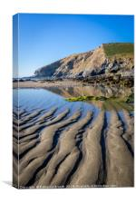 Sand ripples in Cornwall, Canvas Print