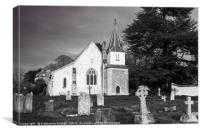 St Mary the Less Church in Chilbolton, Canvas Print