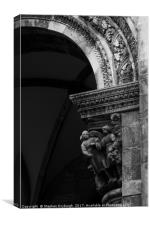 Intricate Classical Stone Arch, Canvas Print