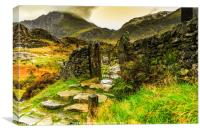 Tryfan Mountain, Canvas Print