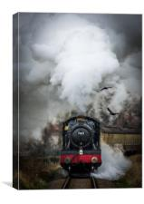 Steam locomotive, GWR 7822 'Foxcote Manor', Canvas Print