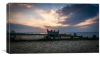 Whitstable evening, Canvas Print