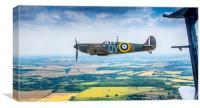 A Spitfire on the Wingtip, Canvas Print