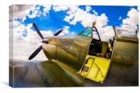 Spitfire - Ready for Action, Canvas Print