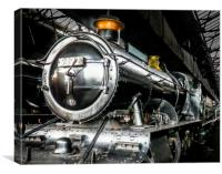 In Didcot Engine Shed - 5322, Canvas Print