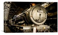 In Didcot Engine Shed - 6023, Canvas Print