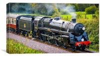 BR Standard Class 5 73082 Camelot at Tremains Cros, Canvas Print