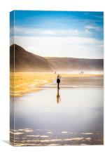 Young Photographer at Chapel Porth, Canvas Print