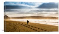 The Lone Walker, Canvas Print