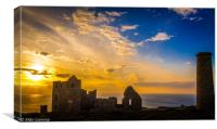 Wheal Coates at Sunset - Panorama, Canvas Print