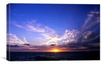Sunset over the Atlantic., Canvas Print