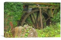 Water Wheel - Melinsey Mill, Canvas Print