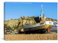 Hastings Fishing Fleet, Canvas Print