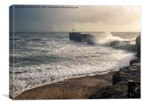 Hastings Harbour Arm on a stormy day, Canvas Print