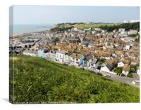 Hastings Old Town, Canvas Print