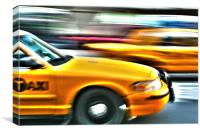 Fast Cabs, Canvas Print