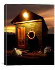 Night at the Beachhut, Canvas Print