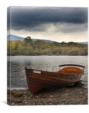 Row boat on Derwentwater, Canvas Print