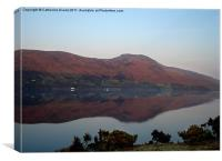 Reflections on Loch Broom, Canvas Print