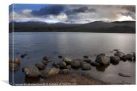 Last light on Loch Morlich, Canvas Print
