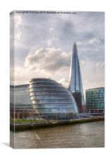 The Shard and City Hall, Canvas Print