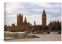 Palace of Westminster from the South Bank, Canvas Print