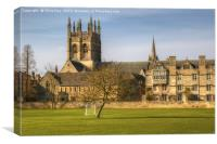 Merton College and Church Oxford, Canvas Print
