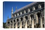 Winchester Cathedral South wall, Canvas Print