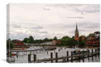 Marlow by The River Thames, Canvas Print