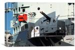 Guns on HMS Belfast, Canvas Print