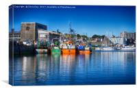 Sutton Harbour, Canvas Print