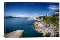 Plymouth Foreshore, Canvas Print